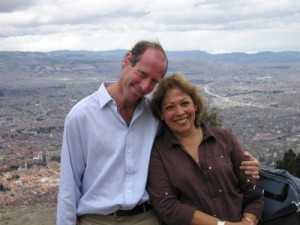 Martin and Gina overlooking Bogota (small)